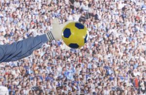Torwart und Fußball