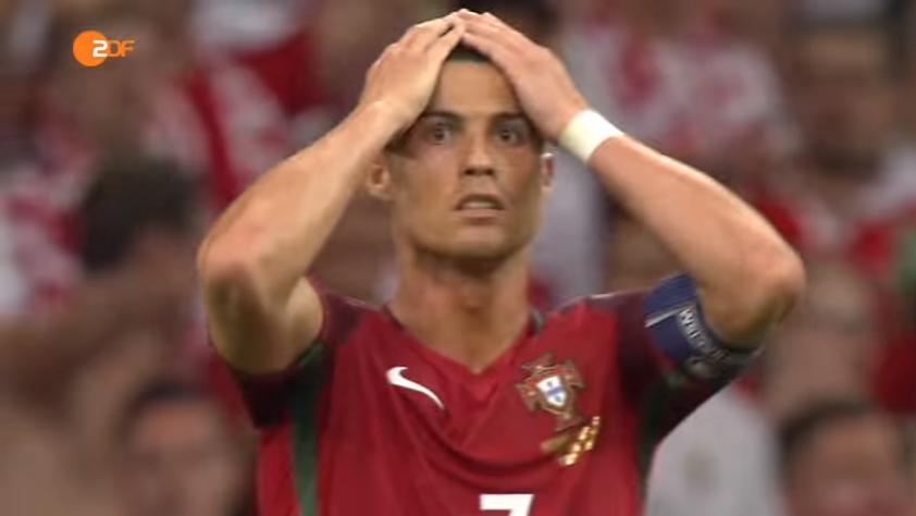 Portugals Christiano Ronaldo im Viertelfinale der EM 2016 gegen Polen