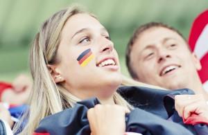 EM-Fan bei einem Spiel der deutschen Nationalmannschaft